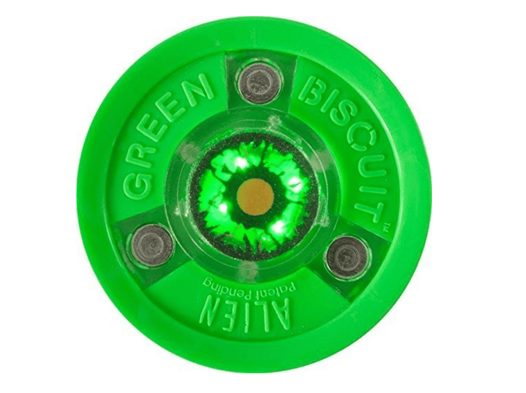 "*Light up Puck"" Green Biscuit Alien"