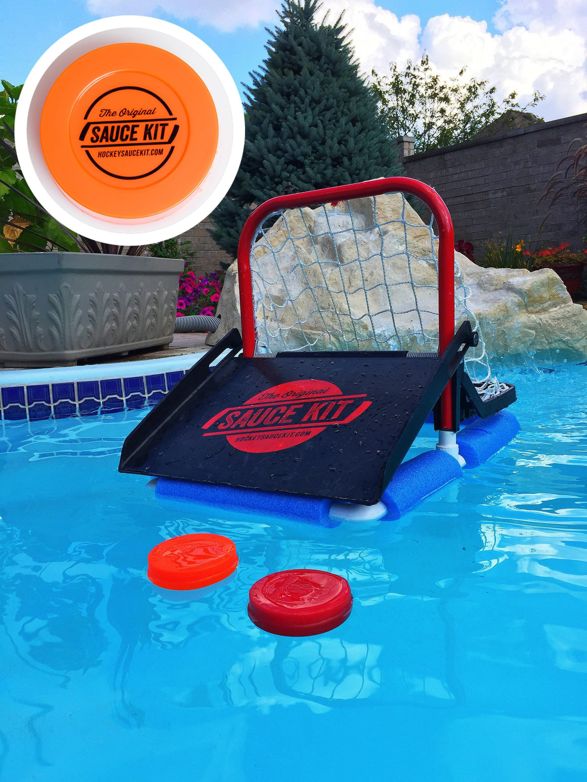 Original Hockey Water Attachment Kit (Attachment + 8 Floating Pucks)