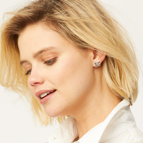 JA22170-Secret-Garden-Mini-Post-Earrings-silver-plate-Brighton-Model-Close
