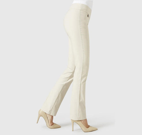 Lisette L Style #1715 True Straight Pant Beige signature smooth wrinkle-free Magical Prada fabric with flatter fit and tummy control Hand Washable Womens Designer Clothing