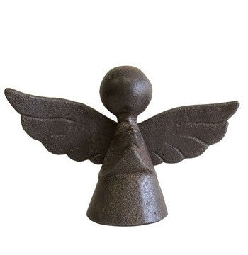 Barboglio Pequeno Guardian Pisapapel - A wax cast iron tiny angel assigned to protect and guide...listen for the flutter of tiny angel wings 3504
