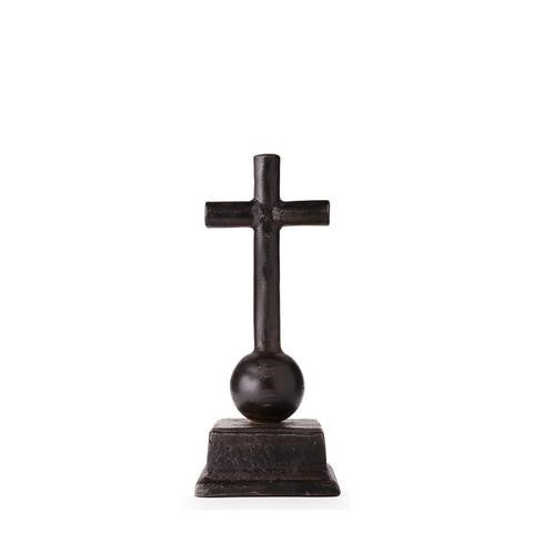Jan Barboglio Capilla Cruz Cross Wax cast iron cross rests on ballin and stand 7242 Home Décor House Blessing Gift