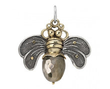Load image into Gallery viewer, Waxing Poetic Bee Brave Honey Bee Pendant