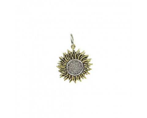 Waxing Poetic Be the Light Charm bold bright beauty Shine and glow radiant sun rays of brass and center crafted of dazzling Swarovski crystals are enough to send you swooning secret message just for the wearer on the reverse side a reminder to keep close to heart BE THE LIGHT BTL2MS-SML Jewelry