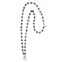 Load image into Gallery viewer, Waxing Poetic Ensemble Necklace 28 inches - Hematite
