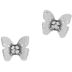 Brighton Secret Garden Butterfly Mini Post Earrings Adorn your ears with these tiny butterfly earrings and be transported to a secret garden! Feminine and lightweight a sweet addition to your springtime attire Collection Secret Garden Width 1/2 Inch Finish Silver plated JA22170