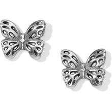 Load image into Gallery viewer, Brighton Secret Garden Butterfly Mini Post Earrings Adorn your ears with these tiny butterfly earrings and be transported to a secret garden! Feminine and lightweight a sweet addition to your springtime attire Collection Secret Garden Width 1/2 Inch Finish Silver plated JA22170