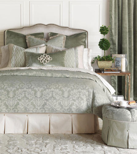 Eastern Accents Lourde Collection Treat your home's inner castle with this regal collection traditional motifs and understated emeralds Lourde bedding brings poise and grandeur to any space Made in USA King BDK-375
