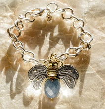 Load image into Gallery viewer, Waxing Poetic Bee Kind Pendant Blue Quartz NEW 2021