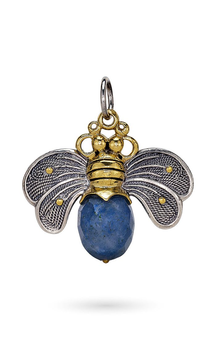 Waxing Poetic Bee Kind Pendant Blue Quartz NEW 2021