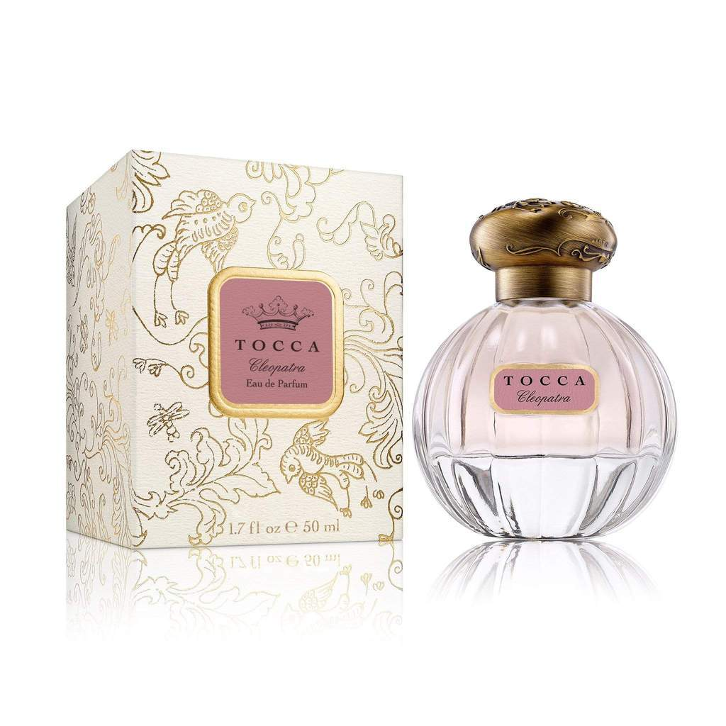 Tocca Cleopatra Eau de Parfum Mediterranean seductress Cleopatra commanded ships and hearts of men in equal measure Key notes notes of bitter grapefruit white jasmine warm patchouli Vanilla Musk powerful captivating Size 1.7 ounces Pure Eu D'Parfum TB2021 Gift Accessory Bath and Body Perfume