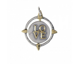 Waxing Poetic Compass Spinner Pendant - Another Love