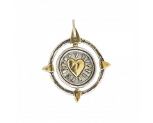 Load image into Gallery viewer, Waxing Poetic Compass Spinner Pendant - Another Love