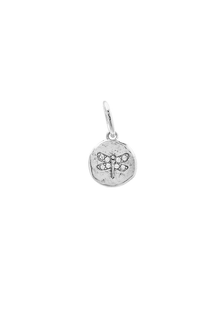 Waxing Poetic Illuminations Silver Charm - Dragonfly