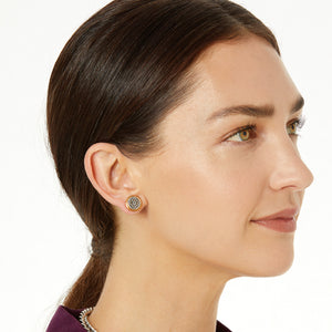 Ferrara Two Tone Post Earrings