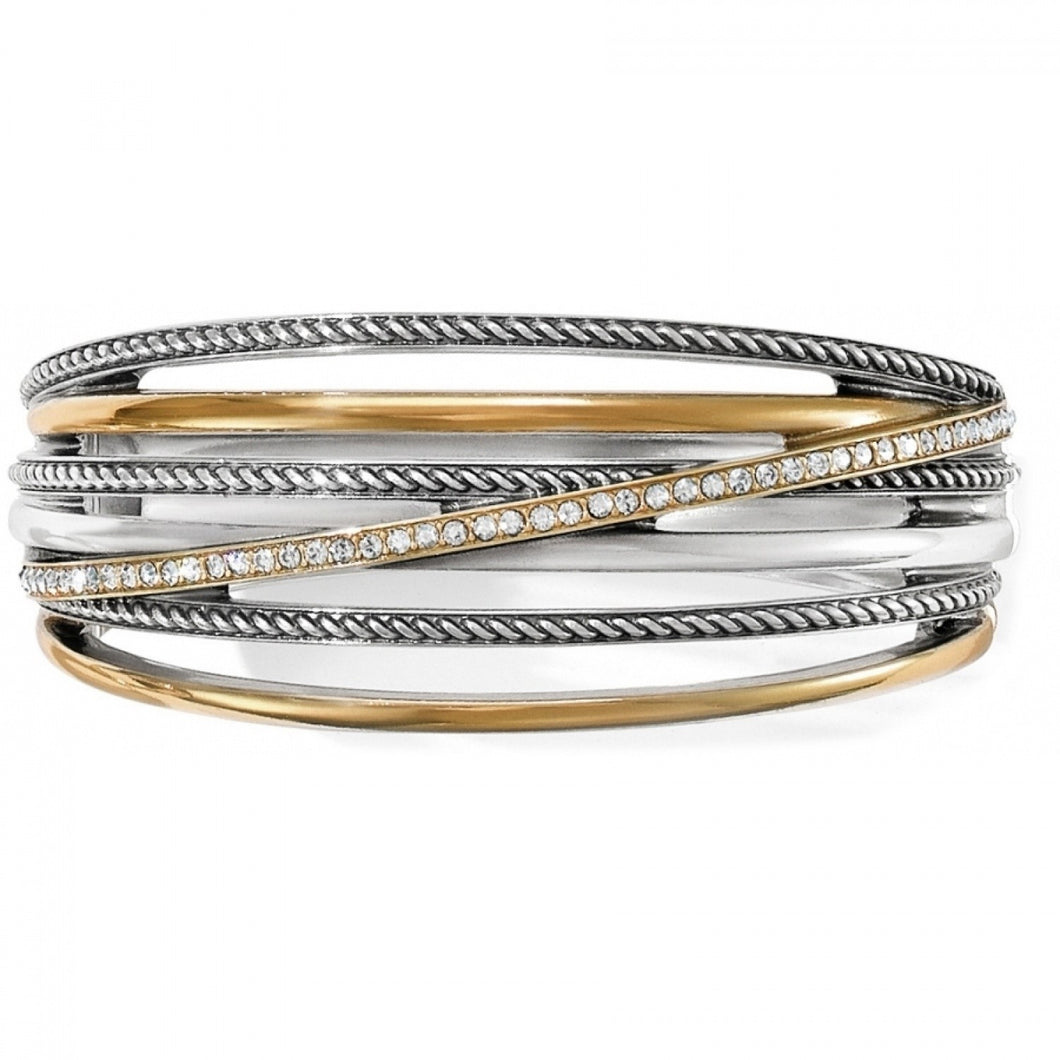 Brighton Hinged Bangle Inspired by Neptune's five rings, our designer created this cleverly
