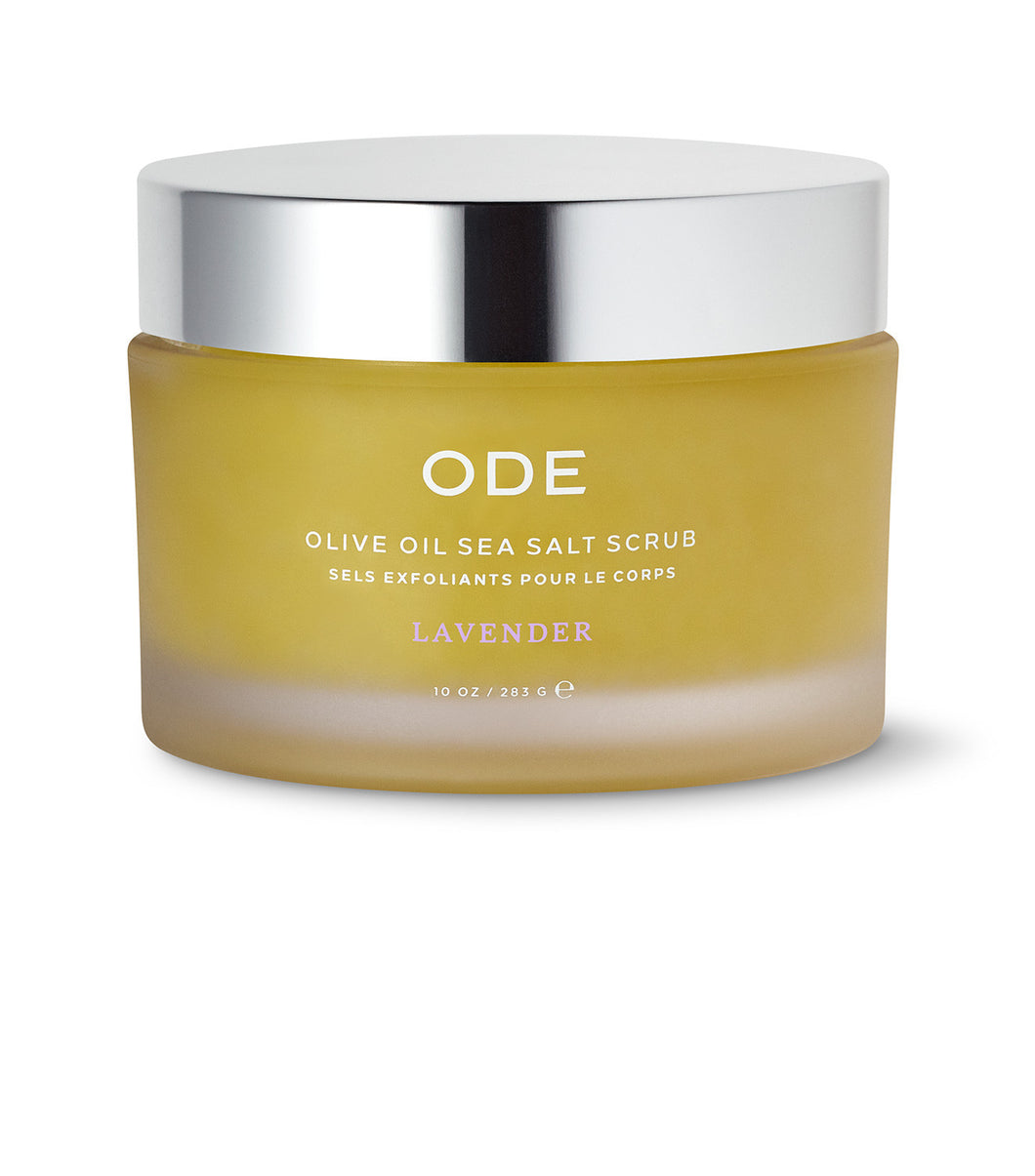 ODE Sea Salt Scrub Olive Oil - Lavender