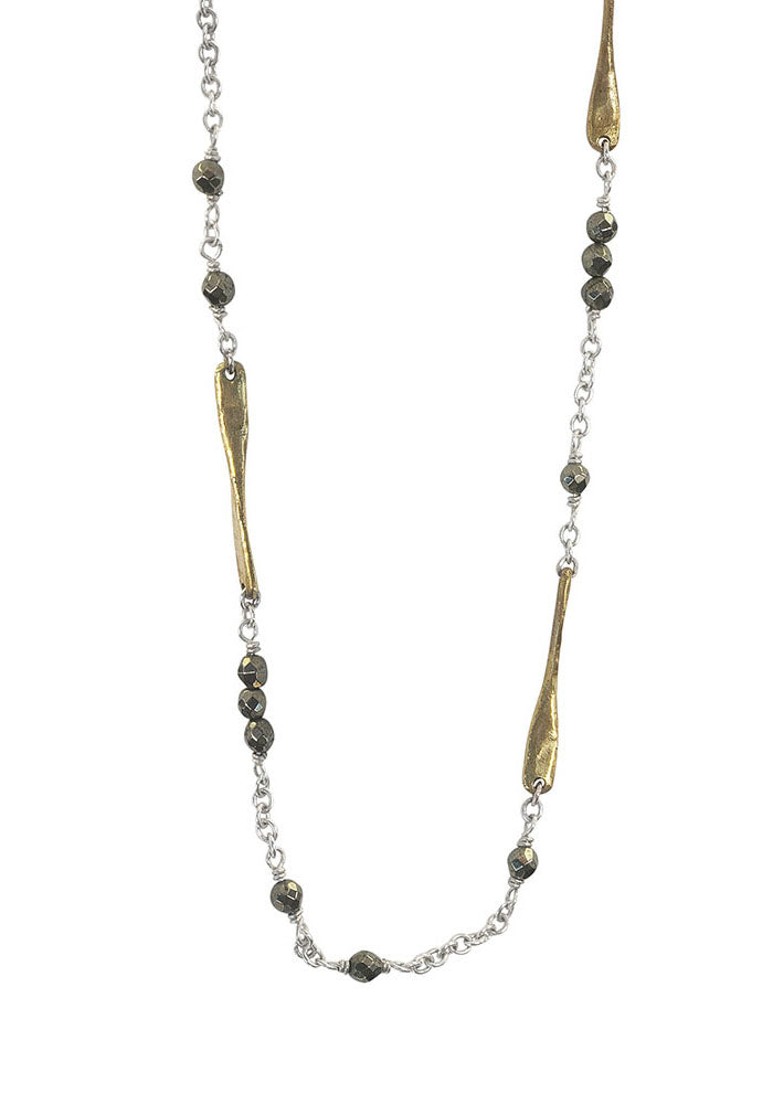 Waxing Poetic Lume Pyrite Chain