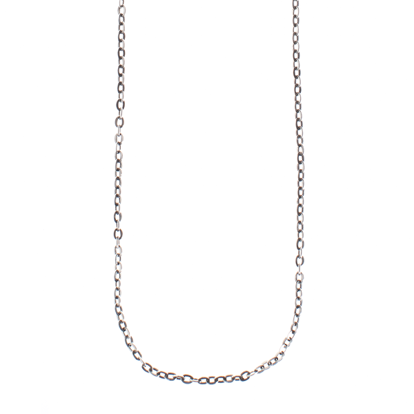 Waxing Poetic Flat Cable Silver Chain
