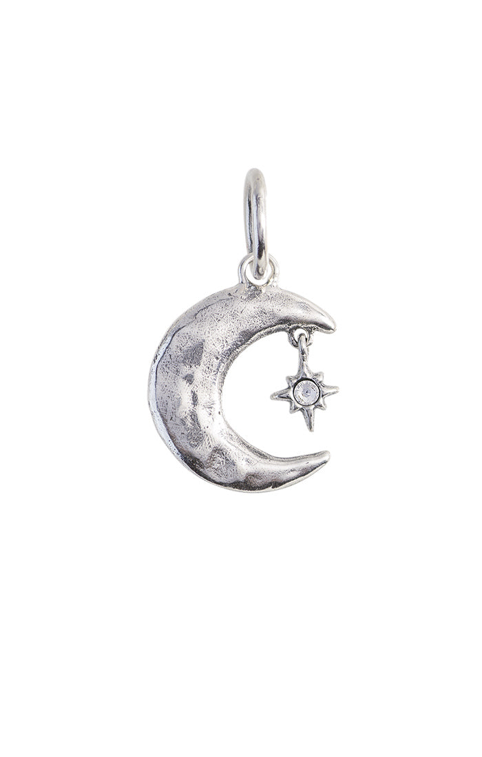 Waxing Poetic Shoot the Moon Charm - Sterling Silver