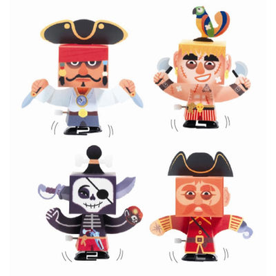 Djeco DIY, Pappfigurer - Kule pirater