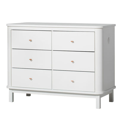 Oliver Furniture Wood kommode, m. 6 skuffer - hvit