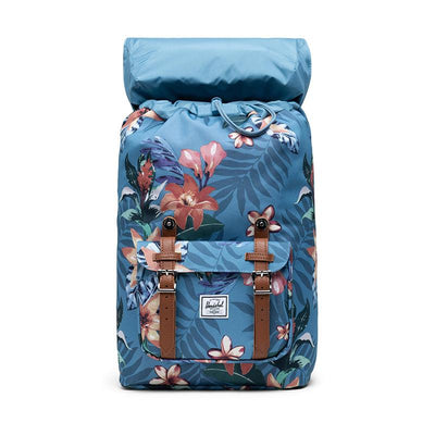Herschel rygsæk, Little America, medium - Summer floral heaven blue
