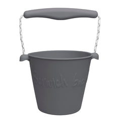 Scrunch-bucket, Myk sammenleggbar bøtte - anthracite grey