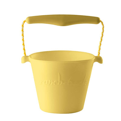 Scrunch-bucket, myk foldbar sandbøtte - icecream yellow