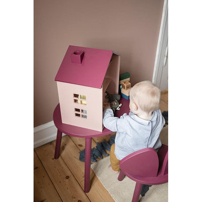 Nofred Mouse Table, barnebord - burgundy (2-5 år)