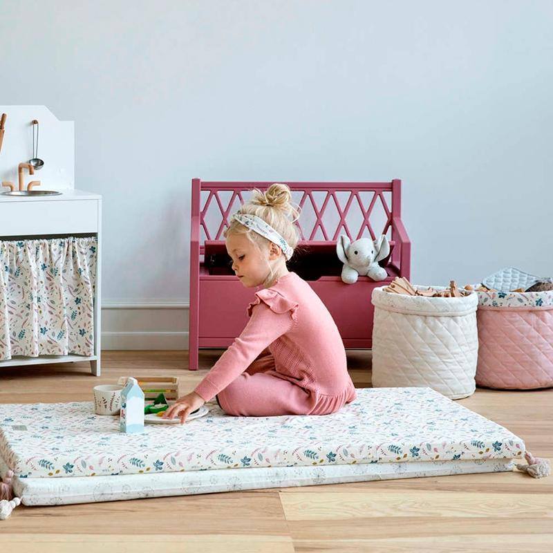 Cam Cam benk, Harlequin Kids storage bench - Berry