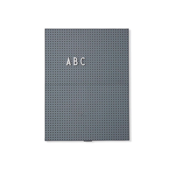 Design Letters Message Board, A4 - dark grey