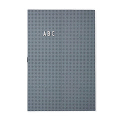 Design Letters Message Board, A3 - dark grey