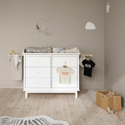 Oliver Furniture Seaside stellekommode m. 6 skuffer, UTEN uttrekk og vasketøyspose