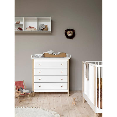 Oliver Furniture Wood Stellekommode m. 4 skuffer, eik