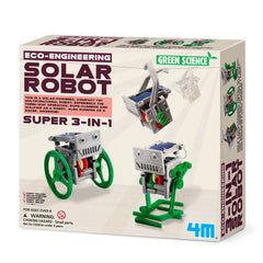 Green Science, eksperimentsett - 3-i-1 mini soldrevet robot