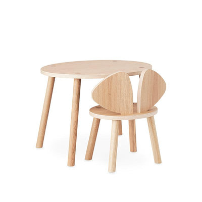 Nofred Mouse Table, barnebord - eikefinér (2-5 år)