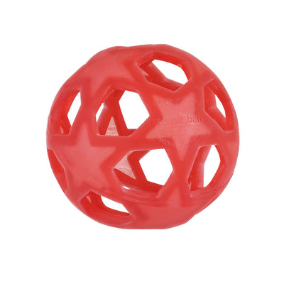 Hevea Star Ball i naturgummi - raspberry