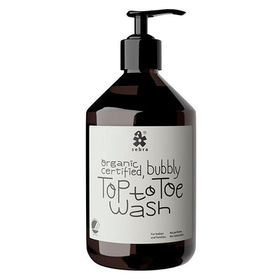 Sebra Top to Toe Wash, Økologisk såpe til kropp, hår og boblebad - 500 ml