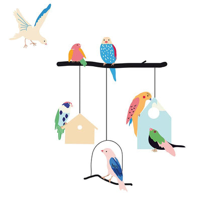 Mimi lou wallsticker, Birds and houses