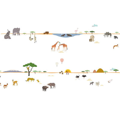 Mimi Lou wallsticker frise, Liv - Safari