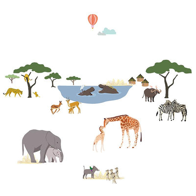 Mimi lou wallsticker, Safari
