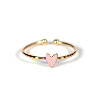 Titlee ring m. rosa hjerte