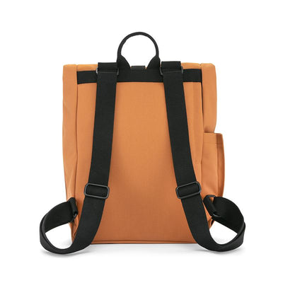Dusq Vegan bag, Canvas ryggsekk - Sunset Cognac