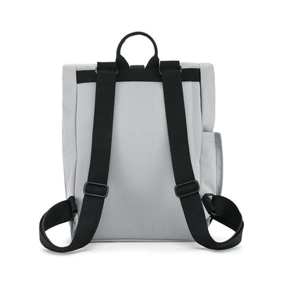 Dusq Vegan bag, Canvas ryggsekk - Cloud grey