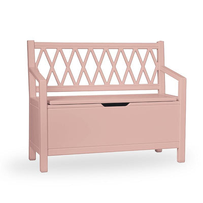 Cam Cam Benk, Harlequin Kids Storage Bench - Dusty rose