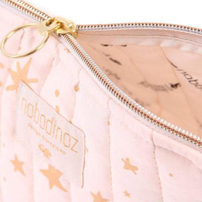 Nobodinoz toalettmappe, small, gold Stella - dream pink