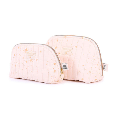 Nobodinoz toalettmappe, large, gold Stella - dream pink