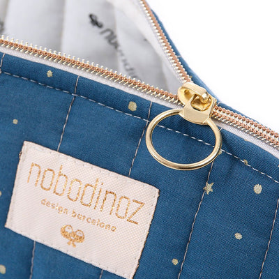 Nobodinoz toalettmappe, large, gold Stella - night blue