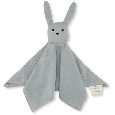 Konges Sløjd koseklut, økologisk , Sleepy rabbit - French Blue